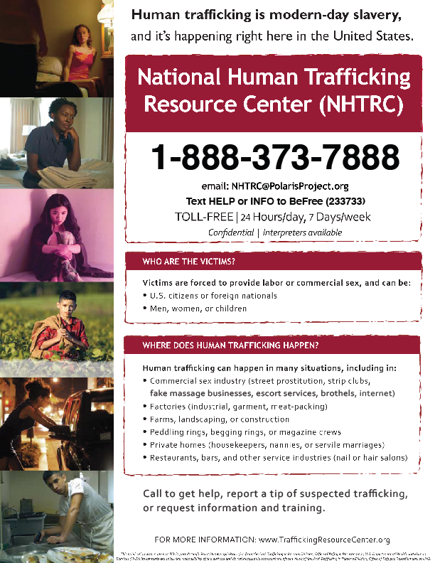 National Human Trafficking Resource Center ( NHTRC)